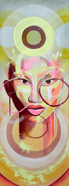 Nucleus, 30 x 80 cms, acrylic on canvas