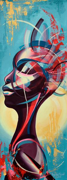 The Source, 30 x 80 cms, acrylic on canvas
